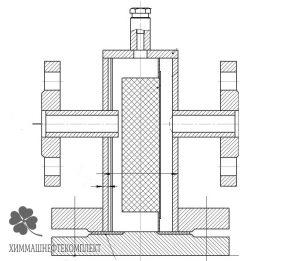 Чертеж общего вида фильтра сетчатого прямоточного ФС-VIII
