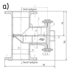 Фильтр сетчатый типа I фланцевый (ФС-I)