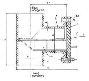 Чертеж общего вида фильтра сетчатогоФС типа IVпод приварку