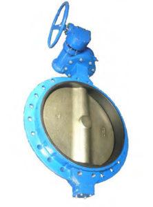 Затворы дисковые поворотные межфланцевые чугунные с редуктором