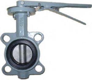 Затворы дисковые поворотные межфланцевые чугунные с рукояткой