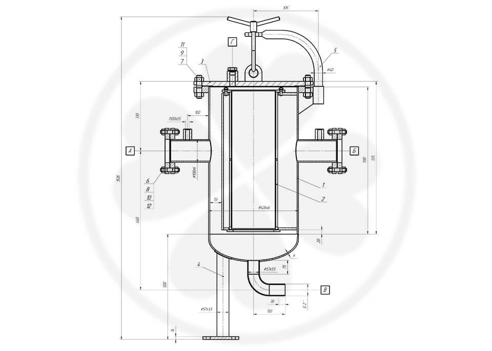 Фильтр сетчатый жидкостный ФСЖ-100-1,0-20-0,08