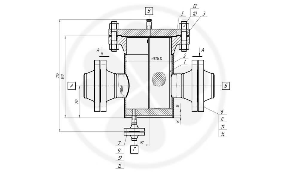 Фильтр сетчатый жидкостный ФСЖ-150-6,3-0,5 с КОФ