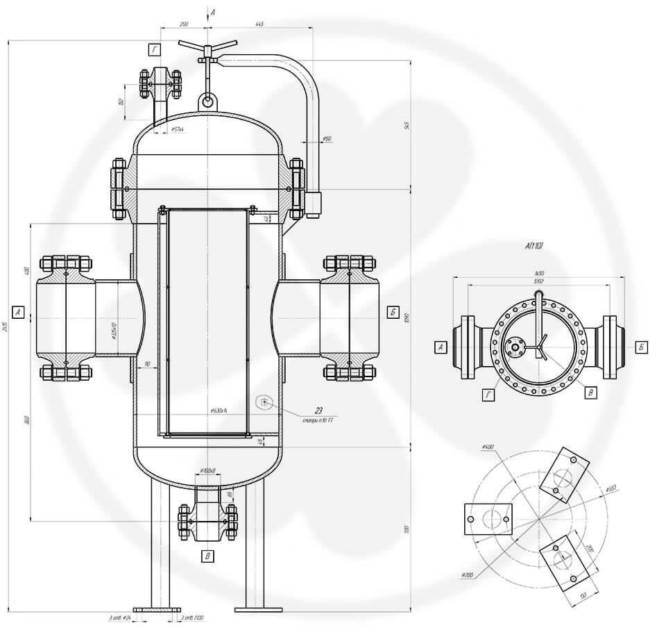 Фильтр сетчатый жидкостный ФСЖ 300-6,3-Д1