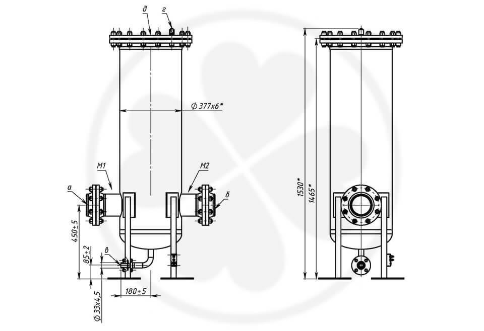Фильтр сетчатый жидкостный ФСЖ125/10П-15-ФЗАЛ-К-УХЛ1