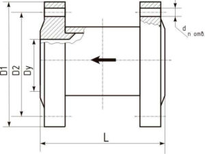 Клапаны термозапорные КТЗ фланцевые габаритные размеры